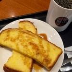タリーズコーヒー - 朝食後だけどフレンチトーストのモーニング(≧∇≦)