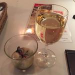 ガンボ&オイスターバー - 白ワインと牡蠣のオリーブオイルマリネ