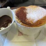 星乃珈琲店 - バニラのスフレ・チョコレートソース