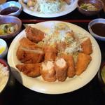 とん葛 - 2014/12/23 ささみとヒレカツ定食