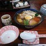 一福茶屋 - 三千院うどん(野菜入り餡かけうどん)