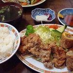 晴山閣 - 春巻定食(1200円)