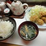 季節料理 西田 - カキフライ定食