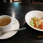 35941621 - スープ+サラダ