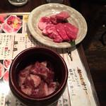 肉屋の台所 道玄坂ミート ぶたキム - 壺漬けカルビ、和牛盛り