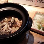 大人の隠れ家和食 ひより - 赤鶏ときのこの土鍋ご飯
