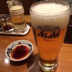 吉風 - ビール タレ用意