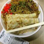 浪速のお好み亭 - とらとらセット566円:野菜焼+洋食焼+焼きそば中。