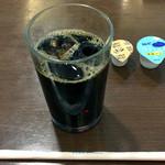 でん助茶屋 - クーポン券でアイス・コーヒーいただきました