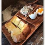 ふくや珈琲店 - バタートーストモーニング 2015.3