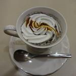 喫茶室ルノアール - 黒ゴマ黒糖ミルク:820円