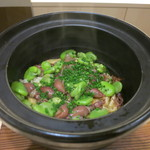 みや - 27年3月 土鍋御飯 ホタルイカと空豆