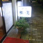 焼肉 松の屋 - 入口の看板