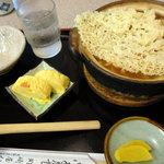 岡崎屋 - 天ぷら入りカレー味噌煮込み定食