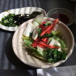 茶舗 - ランチサービスのサラダ