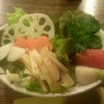 35957752 - 春のサラダ、ウドの酢味噌和え 518円