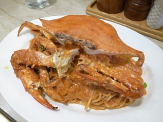 トミーナ - わたり蟹のトマトクリームソース セット¥1,600-