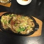 網元 - ホルモン鉄板