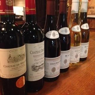 お料理に合わせソムリエ厳選世界の100種類以上のワイン