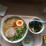 美味しんぼ山岡 - 日替わり みそラーメン+ご飯セット