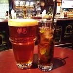 HUB - 『HUB エールビール(1pint)』(880円)『フレッシュミント アイスティー』(300円)~♪(^o^)丿