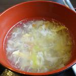 悦悦飯店 - 「酢豚セット」スープ