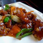 悦悦飯店 - 「酢豚セット」酢豚