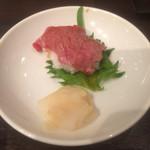 35973385 - お通し肉寿司