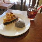 る・せるくる - 林檎と木の実のタルト&アイス・ティー(アール・グレイ)