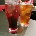 焼肉 夜桜 - ウーロン杯、カシス☆