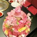 焼肉 夜桜 - デコレーションケーキ☆