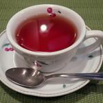 ラ タルティーヌ - もちもちきな粉パンケーキ(セットのドリンクはホット紅茶をチョイス、2015年1月)