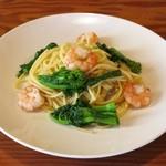 トリノカフェ - 料理写真:「えびと野菜のアンチョビ風味」 780円