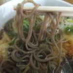 信州生そば - 麺アップ。麺が細くて美味しい!