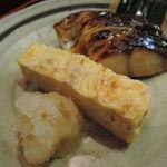35987925 - 出汁巻玉子と鯖塩焼き