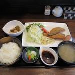 籠 - アジフライ定食