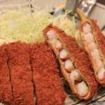 百年亭 - 盛り合せ定食メインのアップ
