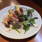 LA VERDE - フレッシュグレープフルーツと鴨のサラダ仕立て
