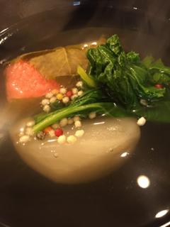 蓬左茶寮 - 椀物(さくらもち、かぶら、花菜)