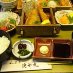和菜亭 次郎丸 - チキンカツと海老フライ御膳