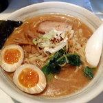 風's - ら~麺(大750円)+燻たま(100円)