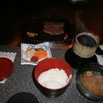 牛鉄板焼処 千 - ビーフと御飯セット
