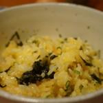 創作和食 くらしこ - たまごかけごはん(350円)薬味を入れて混ぜ混ぜの後