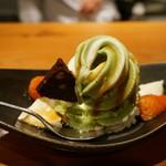創作和食 くらしこ - 抹茶とみつのパフェ(450円)