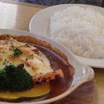 炭焼きレストランさわやか - グラタンハンバーグ