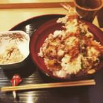 紫長 - ランチは天丼限定でした。1000円 2015.3.17