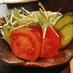 ゆうcafe - ビーフシチューに付くサラダ(2013年2月訪問)