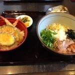 36024520 - 日替わりのぶっかけ冷ソバ+天ぷら丼