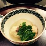 日本料理 太月 - 鯛かぶら 鯛子 木の芽 プチヴェール 2015-3