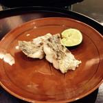 日本料理 太月 - 太刀魚塩焼き 酢橘 2015-3